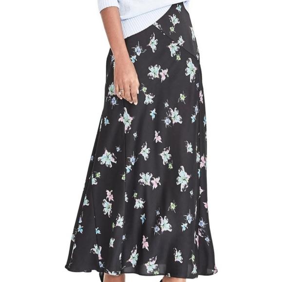 NWT Banana Republic Floral Maxi Skirt